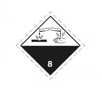 Nálepka ADR Žíravé látky tr.8